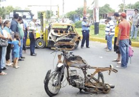 accidente con motocicleta