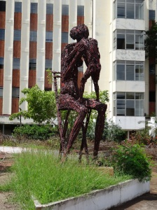 escultura en olof palme