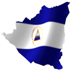 bandera y mapa de nicaragua