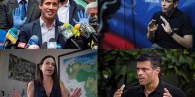 Líderes opositores venezolanos