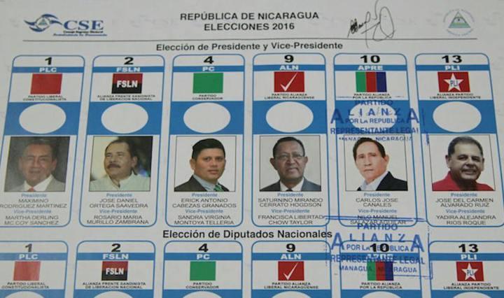 Boleta electoral elecciones 2016