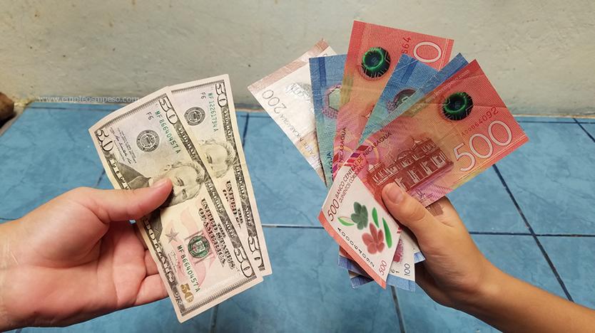 ¿Cuántos córdobas por un dólar?